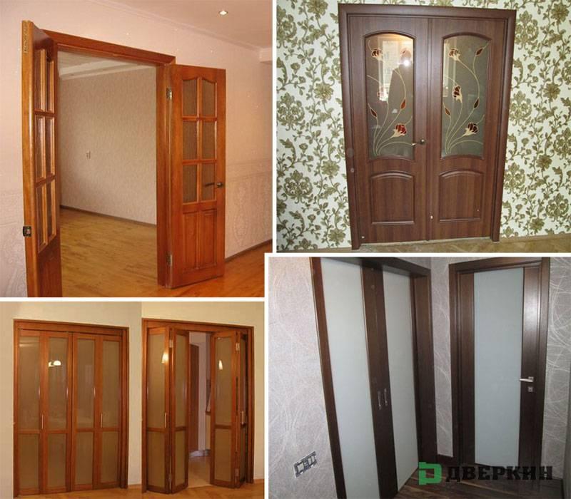 Двустворчатые межкомнатные двери (66 фото): однопольные и двойные двупольные модели, размеры двустворчатых конструкций