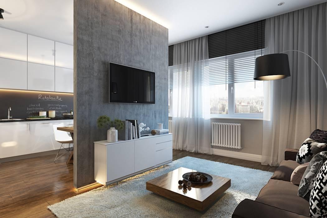 Дизайн квартиры 40 кв. м. [70+ фото], планировки однокомнатной, евродвушки, студии
