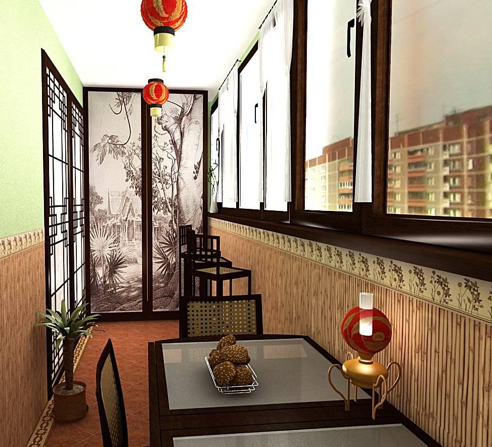 Интерьеры балконов, лоджий и террас
