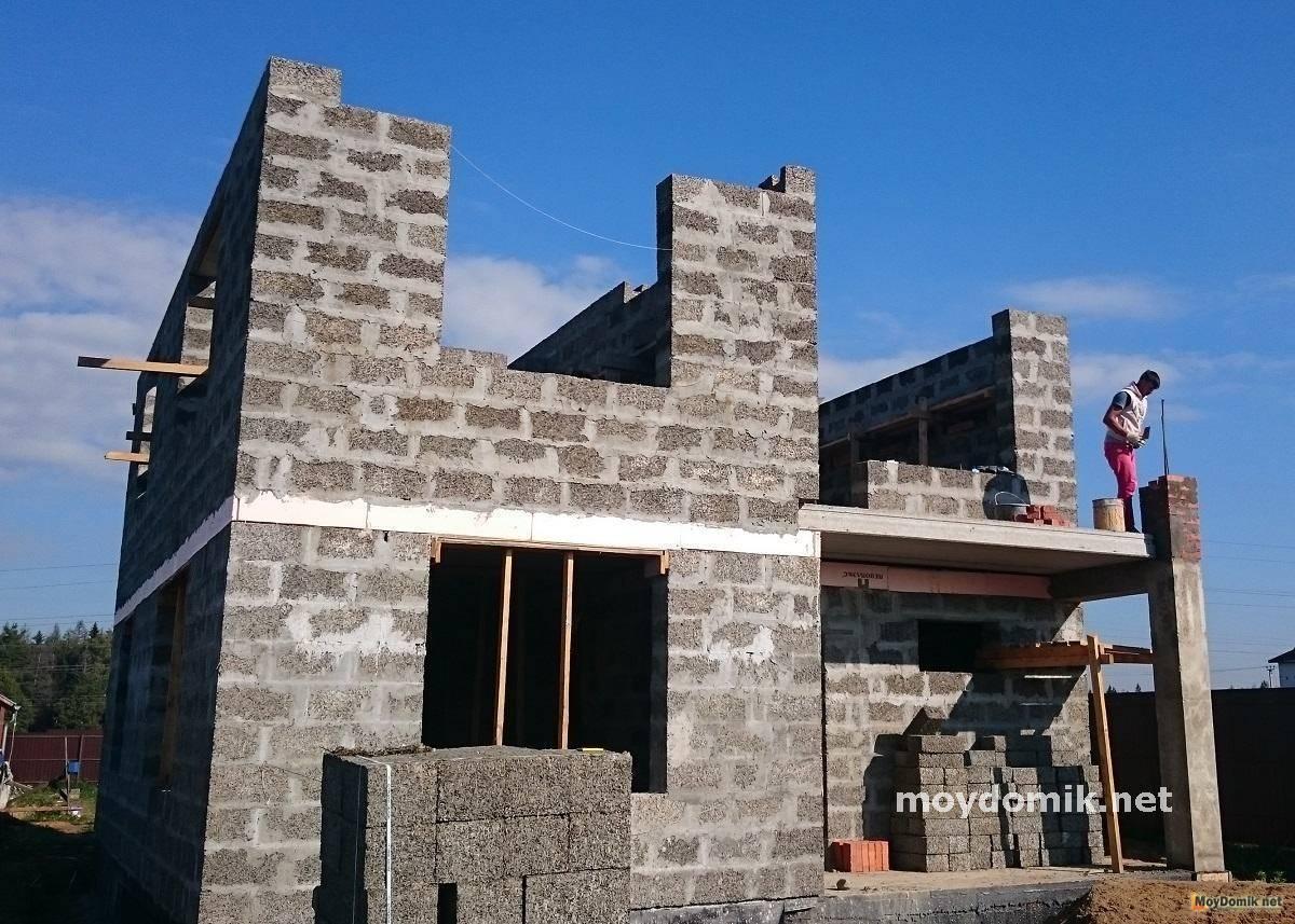 Дом из арболита - строительство дома своими руками