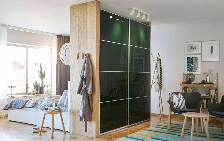Шкаф-перегородка для разделения комнаты: какие конструкции шкафов лучше подходят для зонирования комнат