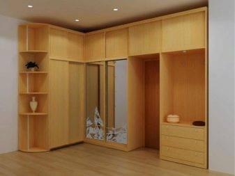 Угловые шкафы в спальню (49 фото):  идеи дизайна большого спального гарнитура с зеркалом