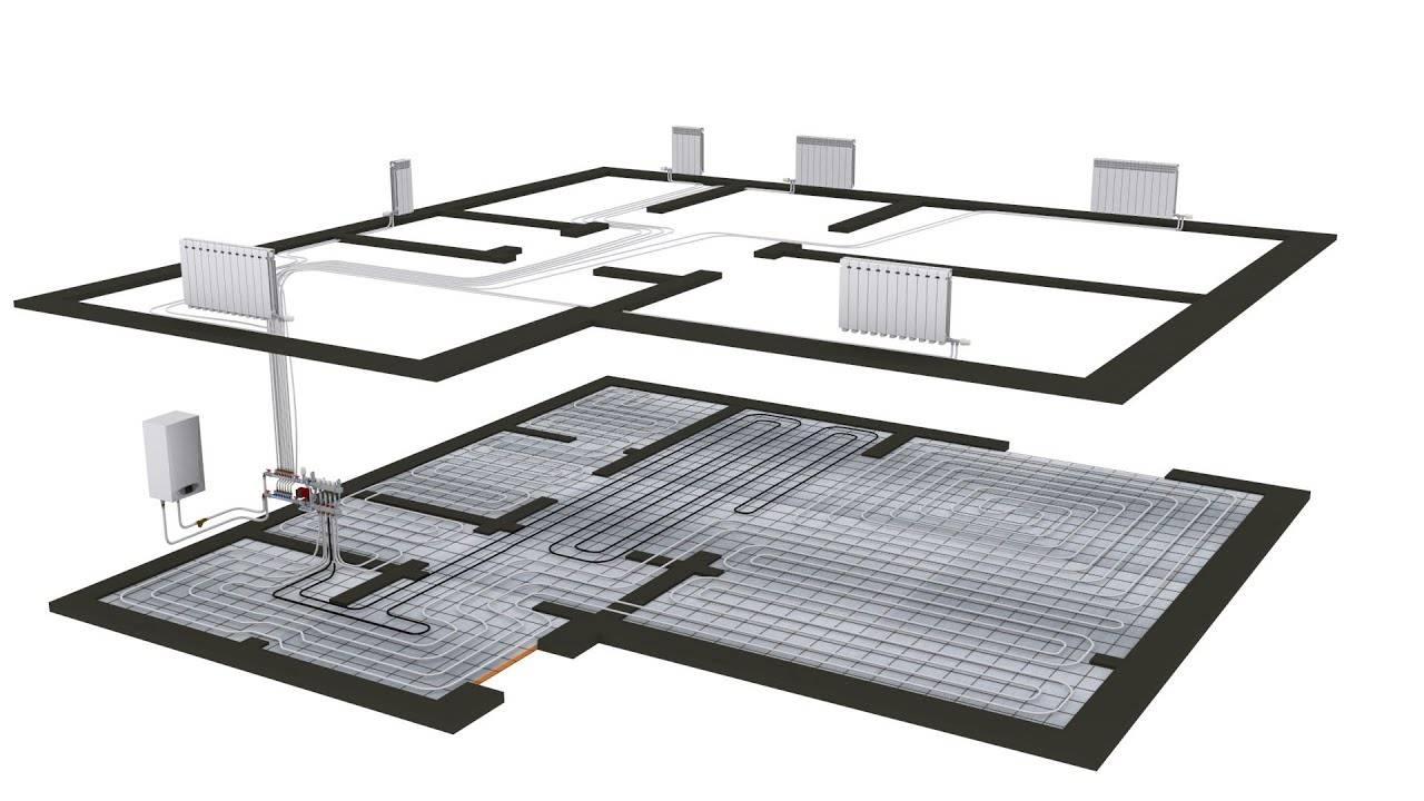 Тупиковая схема отопления 2х этажного дома