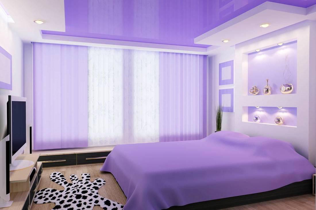 75 новинок дизайна спальни в сиреневых тонах в фото
