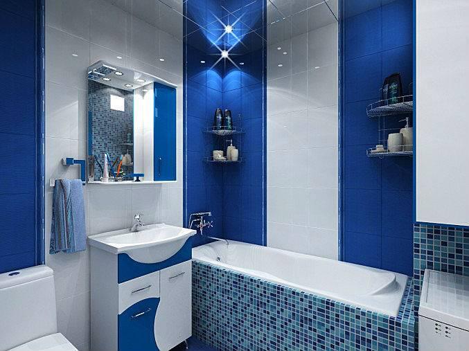 Синий цвет в интерьере - идеи дизайна комнат, цветовые сочетания (95 фото)