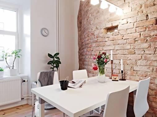 Декоративный кирпич в интерьере кухни - только ремонт своими руками в квартире: фото, видео, инструкции