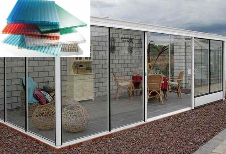 Веранды из поликарбоната: фото и монтаж террас, пристроенных к частному дому, своими руками