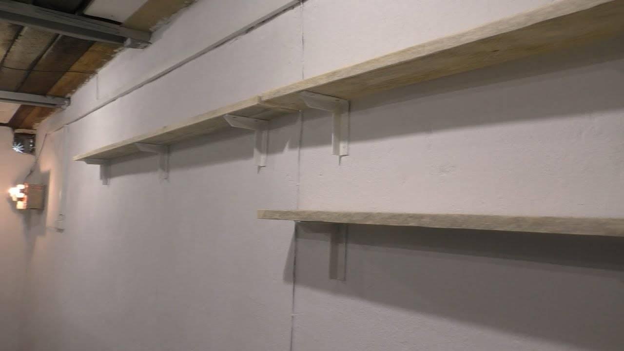 Полки в гараж своими руками (89 фото): варианты стеллажей для инструментов и колес, как сделать полочки на стену по чертежам