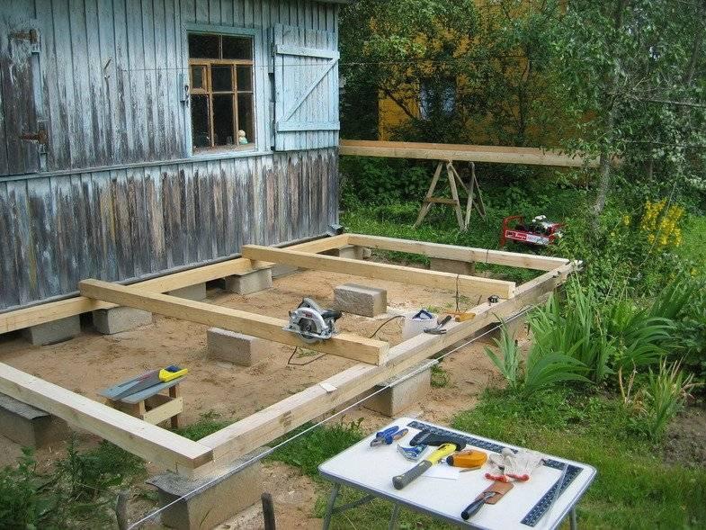 Технология строительства террасы к дому своими руками: фото, видео, как самому сделать террасу