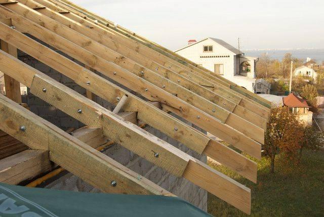 Установка стропил на крышу: как ставить правильно своими руками
