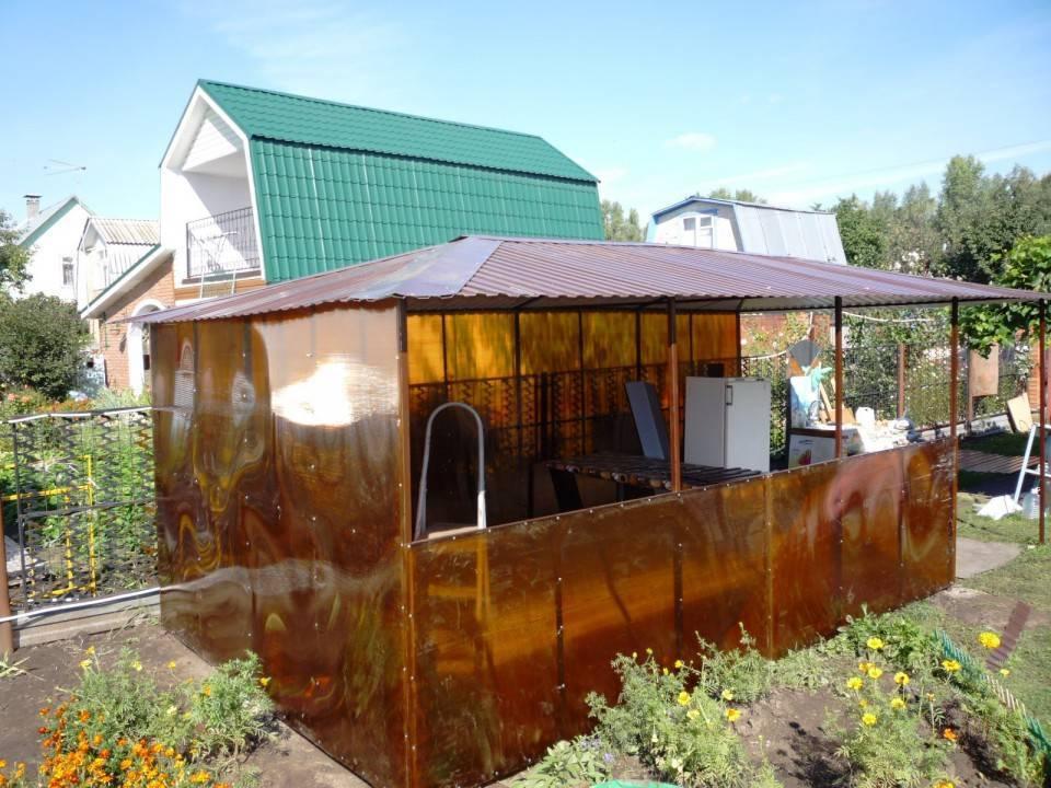 Крыша из поликарбоната для беседки. пошаговая инструкция монтажа