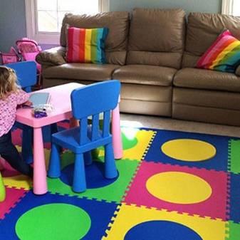 Мягкий пол для детских комнат: свойства, размеры, уход, как собрать