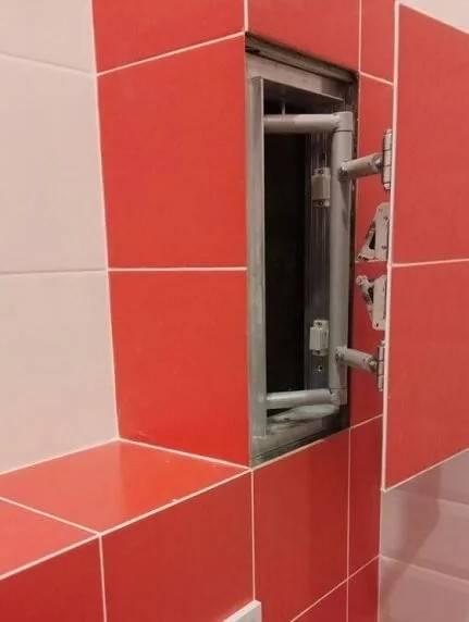 Люк для ванной: 95 фото потайных, ревизионных и скрытых технологических отверстий