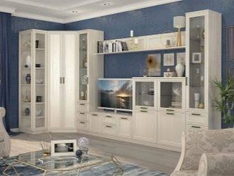 Угловая мебель для гостиной (36 фото): мягкие полукруглые модели с угловым шкафом для зала в современном стиле