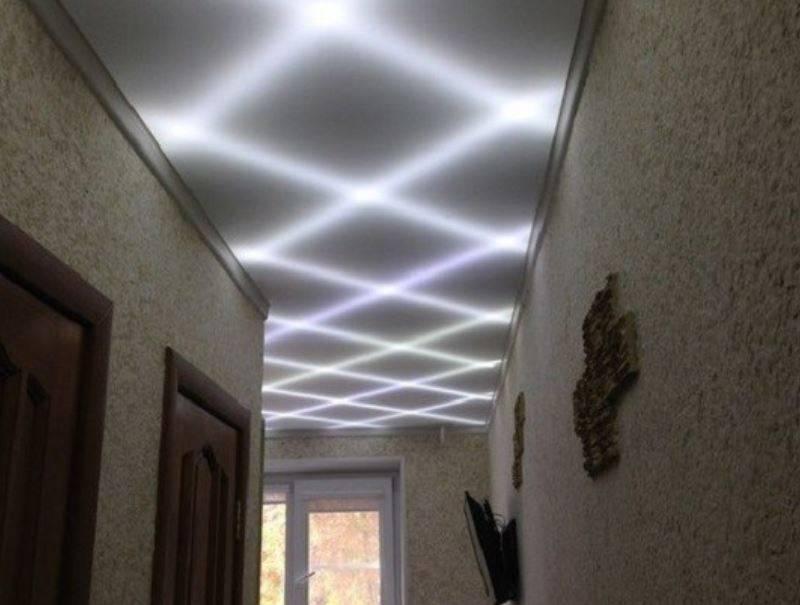 Светодиодная лента под натяжным потолком – особенности выбора и монтажа