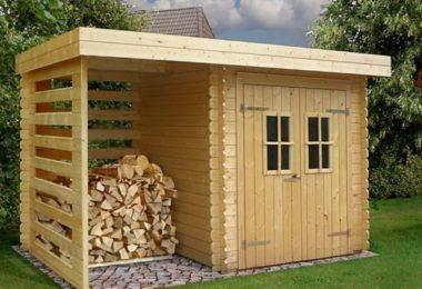 Дровница для дачи: фото и виды уличного деревянного дровяника в саду на улице