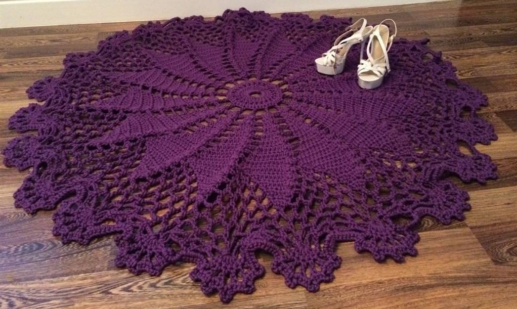 Полиэфирный шнур для вязания ковров, ковры из полиэфирного шнура крючком, схемы вязания