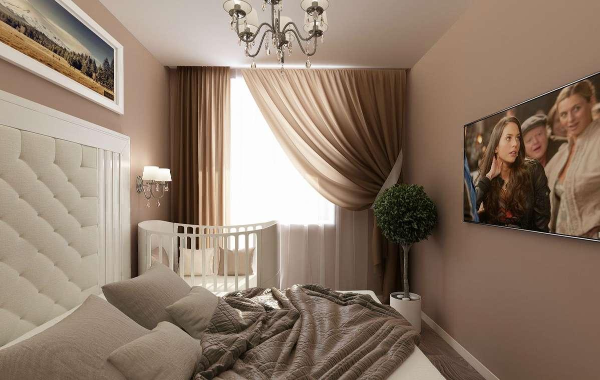 Идеи дизайна спальни с детской кроваткой, варианты размещения родителей | tooran