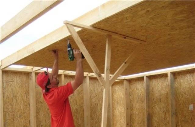 Потолок из  осб: особенности плит и способ монтажа