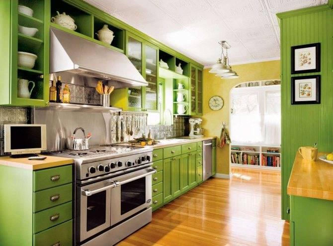 Зеленый, салатовый интерьер и его сочетание | lookcolor