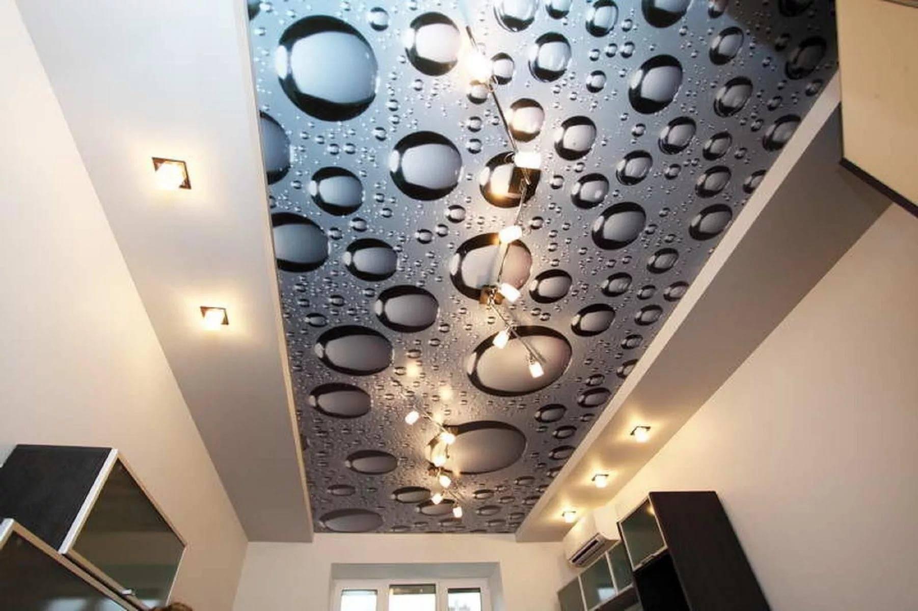 Технические характеристики натяжных потолков из виниловой пленки и ткани, фотографии и видео