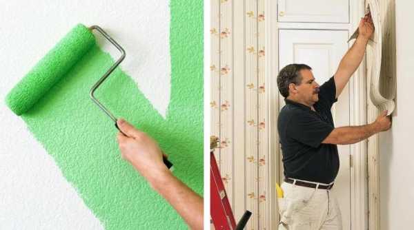 Красить стены или клеить обои: преимущества и недостатки