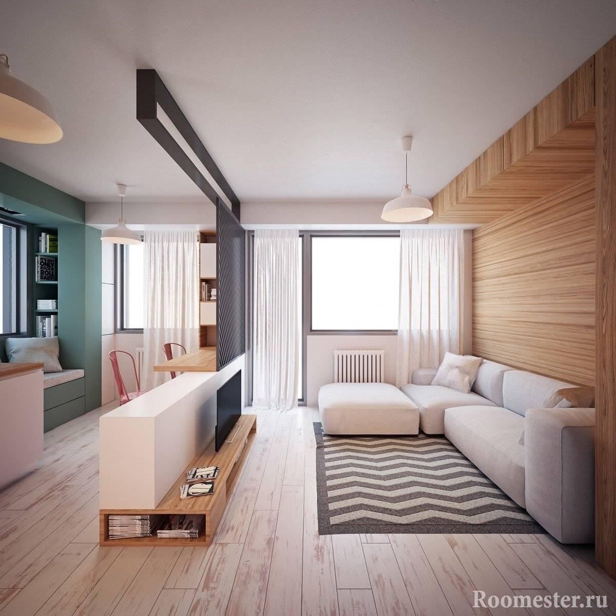 Планировка однокомнатной квартиры 35 кв. м