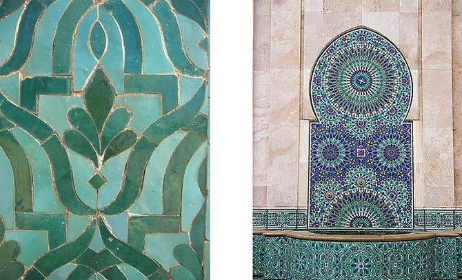 Плитка в марокканском стиле в интерьере