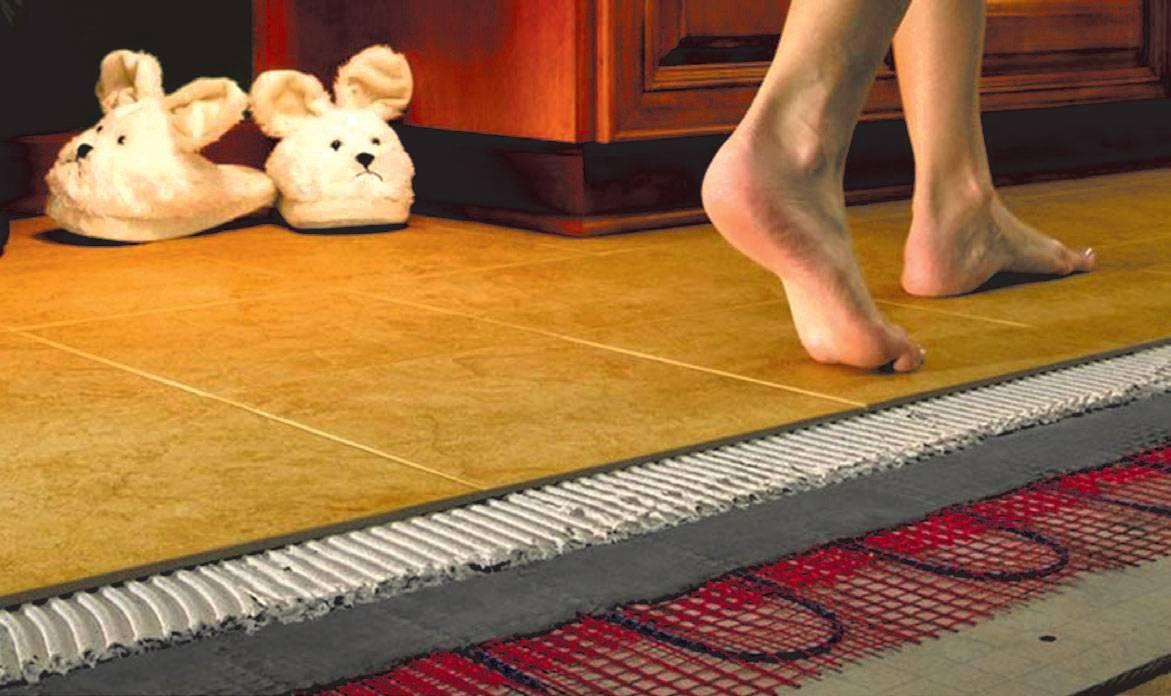 Как сделать теплые полы в каркасном доме без стяжки