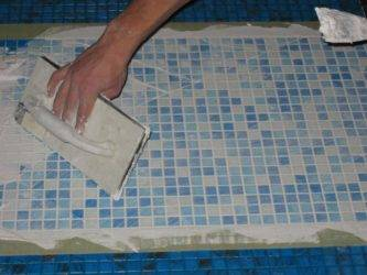 Укладка мозаики на гипсокартон