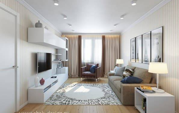 Создаем дизайн 2 х комнатной квартиры (серия п 44т). примеры с фотографиями