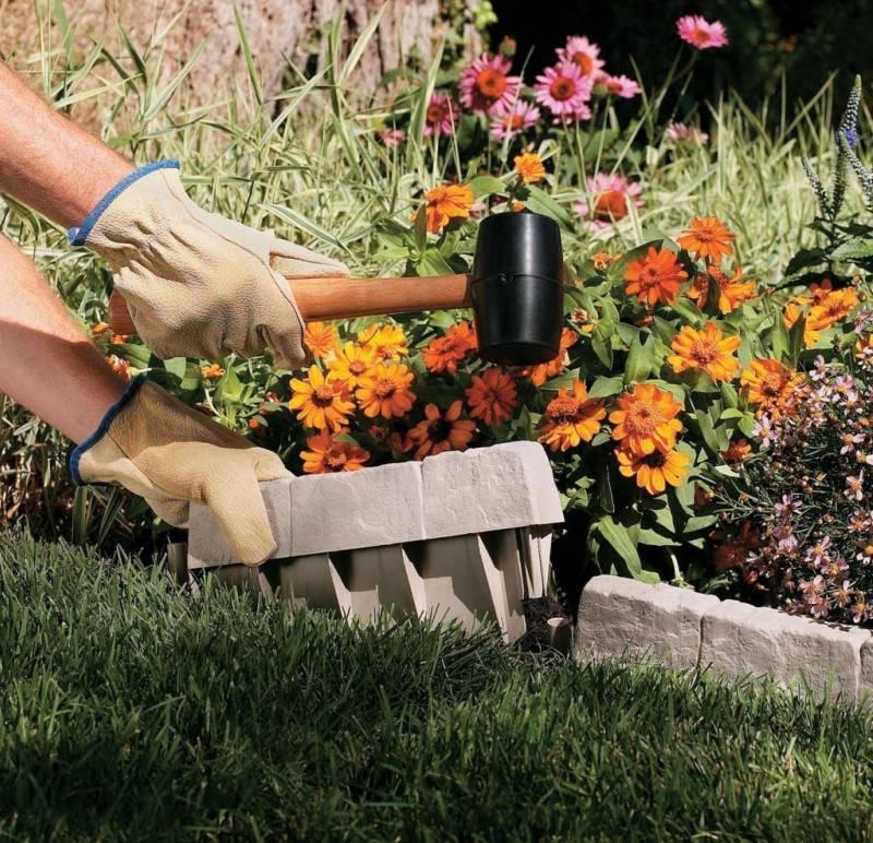 Клумбы своими руками:  используем садовый бордюр