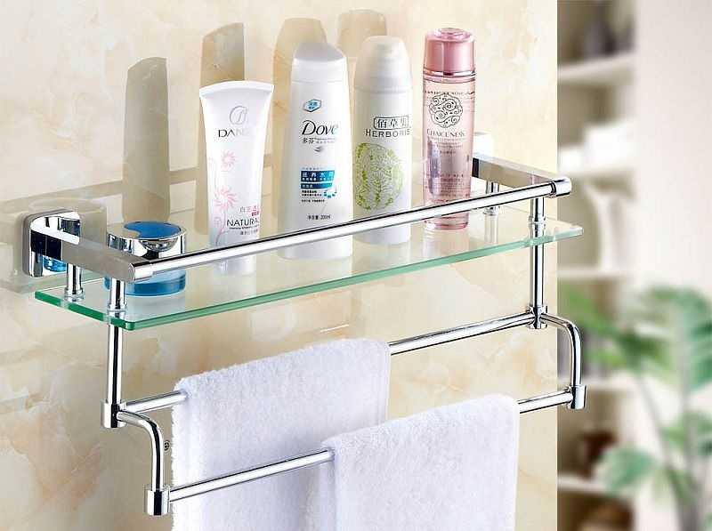 Полки для ванной комнаты: виды, материалы, дизайн, особенности монтажа