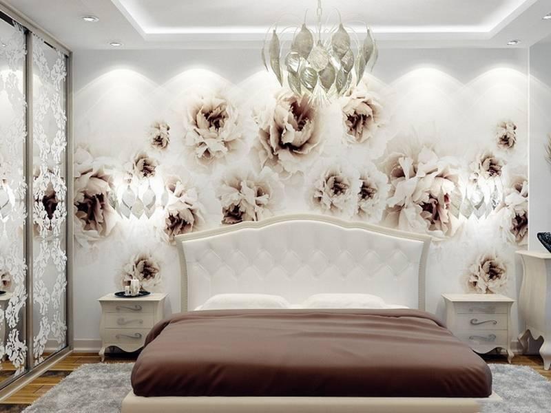 Фотообои для спальни: 68 идей современной отделки стен, примеры с фото