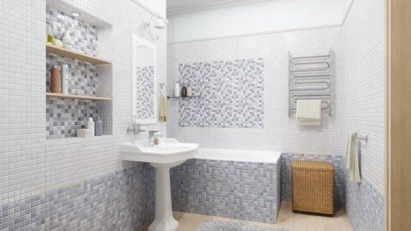 Укладка мозаичной плитки на стену своими руками