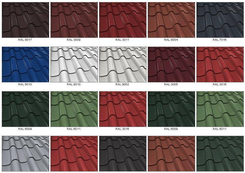 Металлочерепица и ее цветовая гамма: дома с зеленой крышей