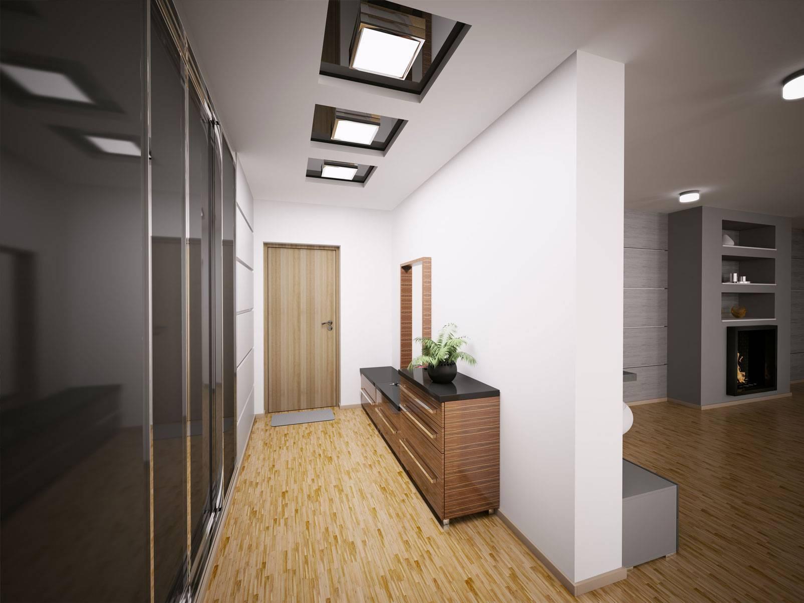 Дизайн узкого коридора в квартире: фото и 20 советов по оформлению