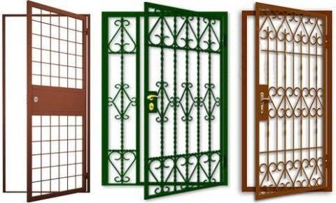 Металлические решетчатые двери - купить в подольске по цене от 8000 руб.