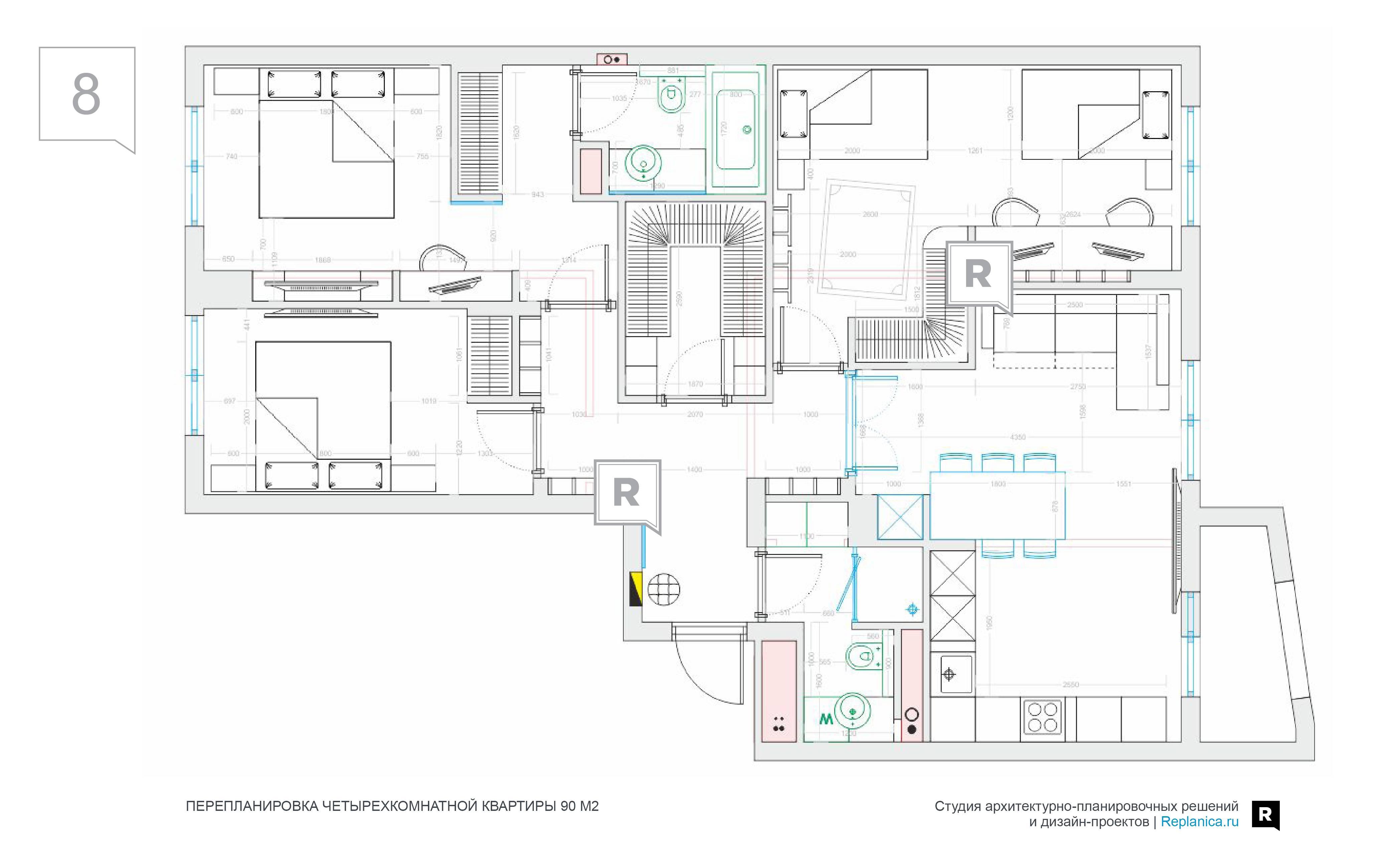 Планировка 3-х комнатной квартиры с планировкой + 160 фото