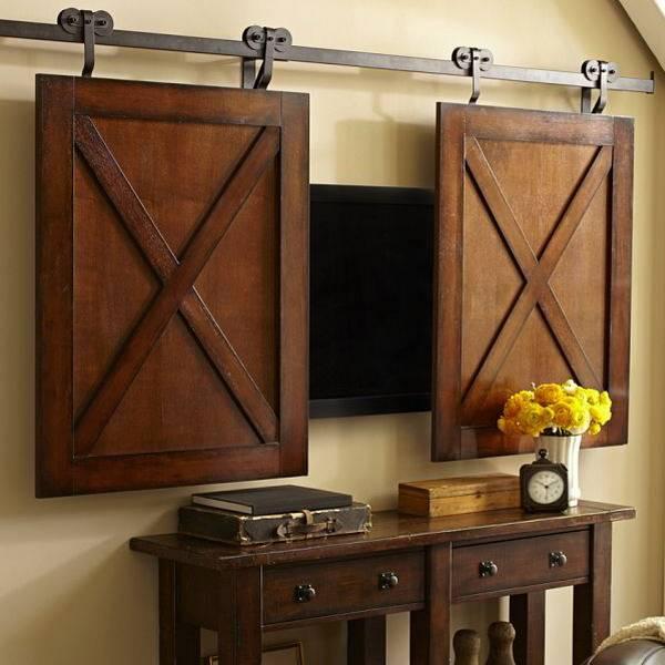 Телевизор на стене в интерьере — правила установки, идеи -
