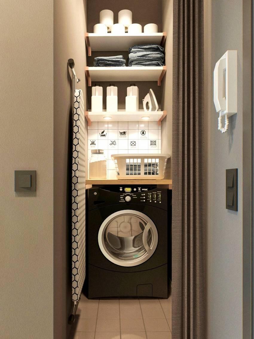 Куда поставить стиральную машину в ванной