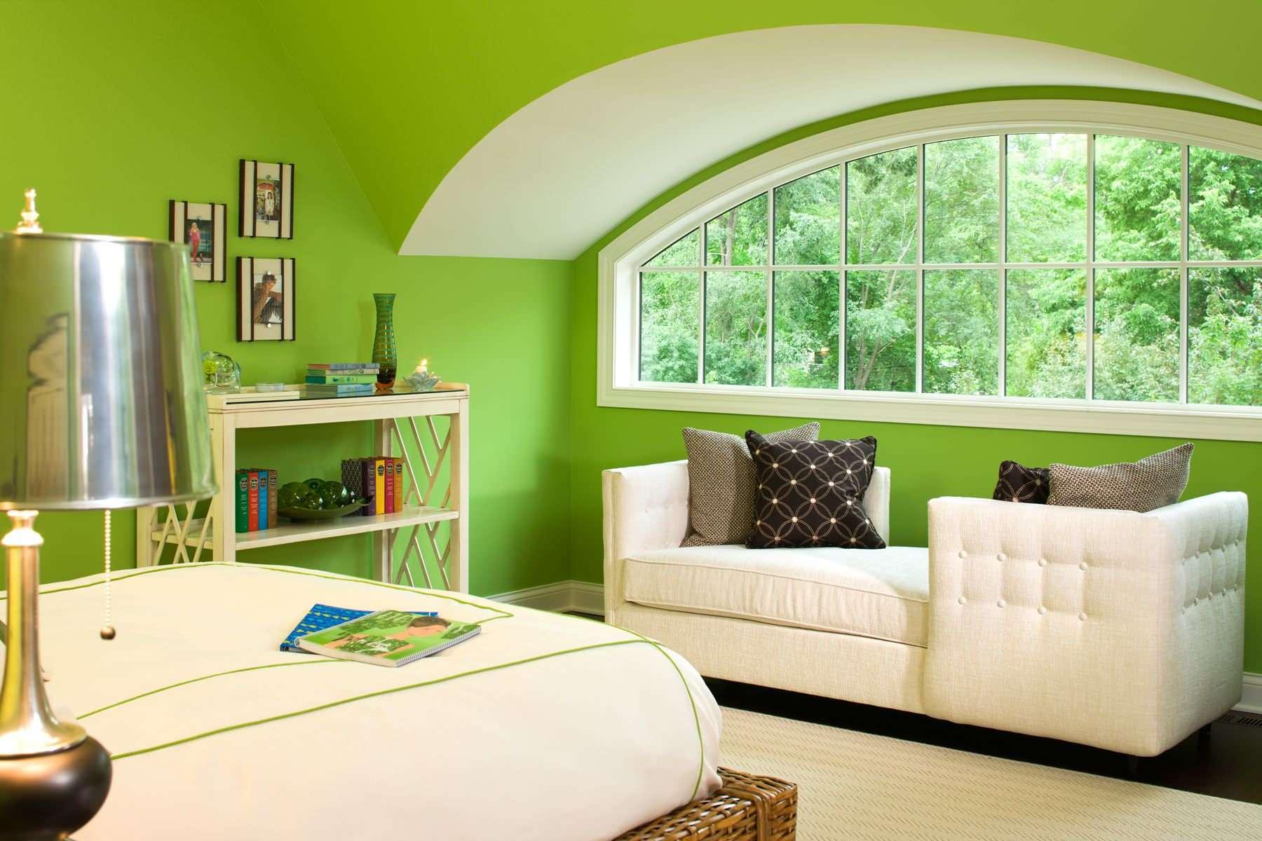 Зеленый, салатовый интерьер и его сочетание