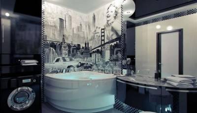 Как выбрать и клеить стеклообои для ванной комнаты