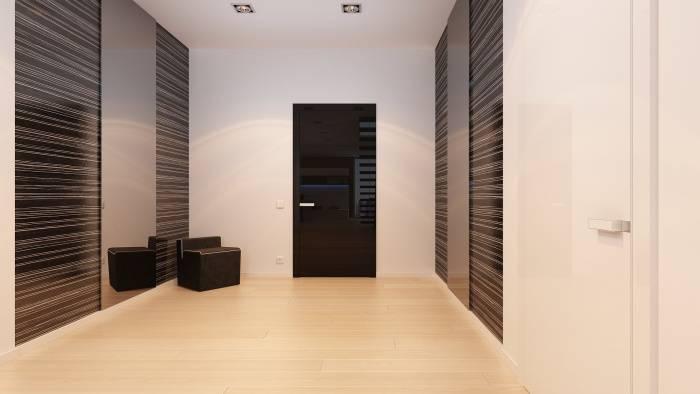 Как выглядят обои в прихожей в сочетании с темными дверьми: лучшие идеи (30 фото)