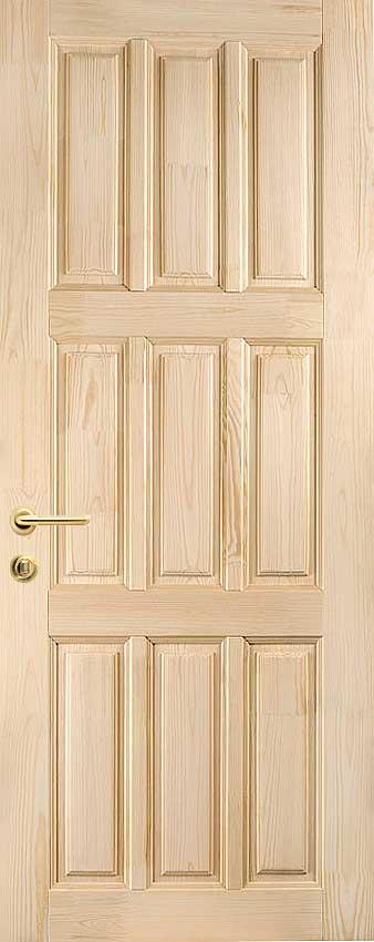 Двери из массива сосны, межкомнатные и входные деревянные конструкции