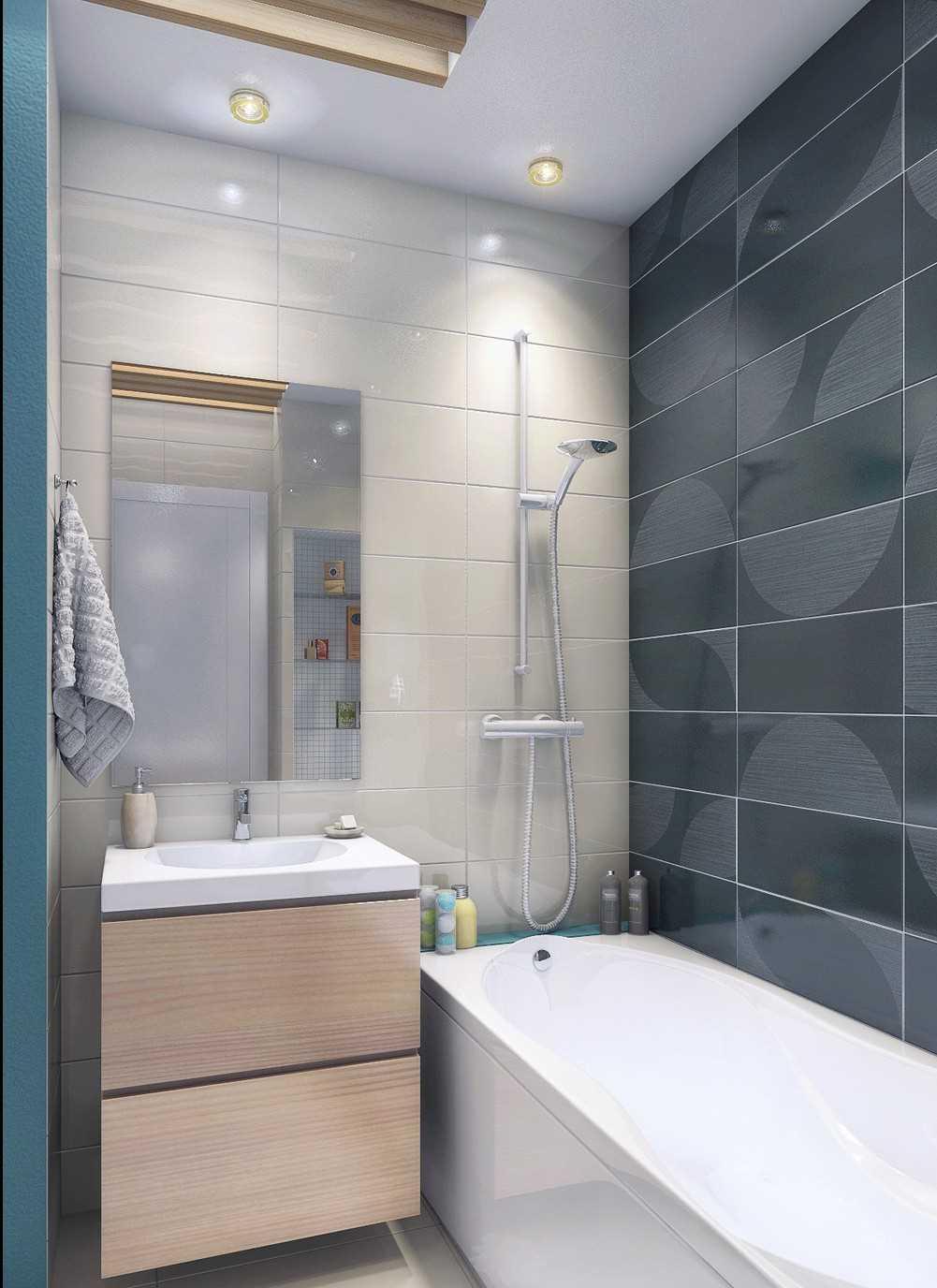 Дизайн ванной 5 кв.м.: материалы, варианты оформления - 75 фото