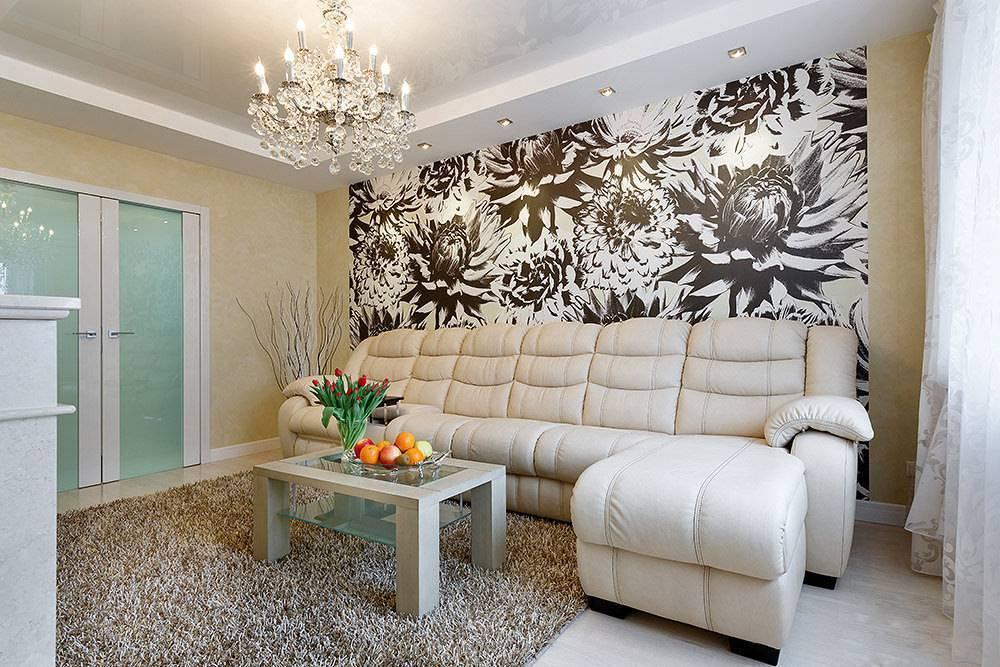 Необычные сочетания обоев в интерьере: гармония цвета обоев и потолков, мебели, пола
