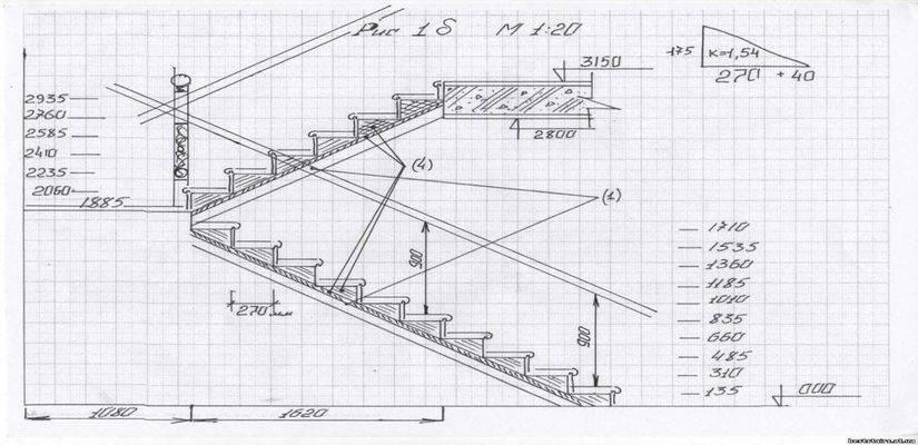 Металлическая лестница: как сделать лестницу на второй этаж своими руками из металла с поворотом на 90 градусов (фото) » интер-ер.ру