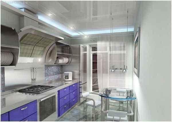 Натяжные потолки на кухне - варианты дизайна с примерами из современных интерьеров
