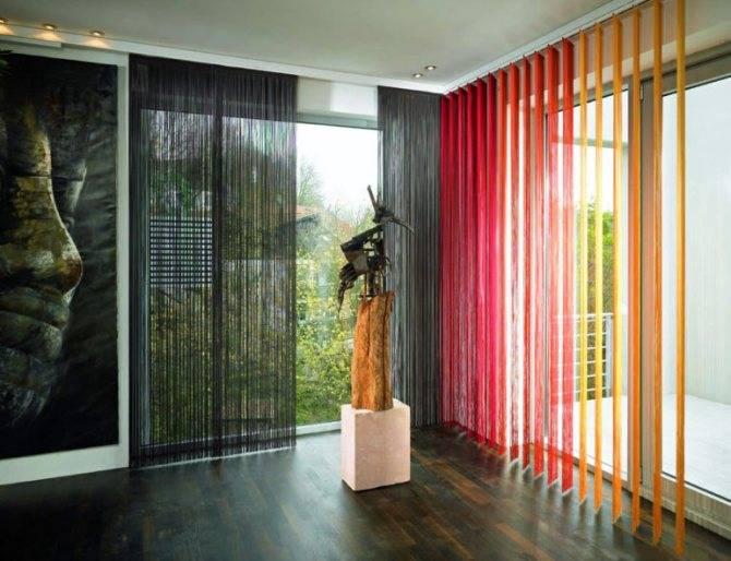 Фиолетовые шторы в современном интерьере: 50 фото с примерами дизайна